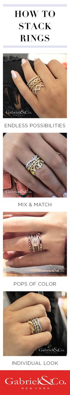 577e138fb 33 Best Gabriel & Co. Stackable Rings images in 2018 | Stackable ...