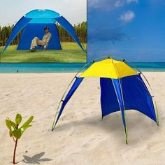Portable Beach Tent Sunshelter Shade Shelter Beach Cabana Tent C&ing Outdoor  sc 1 st  Pinterest & Genji Sports Pop Up Family Beach Tent And Beach Sunshelter ...
