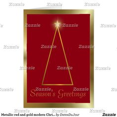 Metallic red and gold modern Christmas