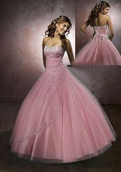 Stock Formal Quinceanera Dress Ball Gown Cocktail Pageant Prom Gown Dress 6 8 ++