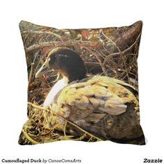 Camouflaged Duck Pillow