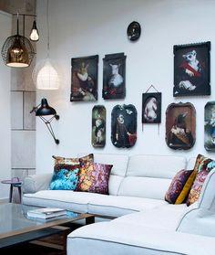#ibride #tray #artwork #design #home #decoration #wall http://www.ibride.fr/galerie-de-portraits/