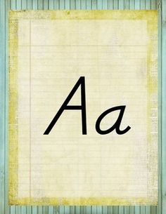 Add these alphabet manuscript posters to your classroom to fit perfect with a retro chic, vintage, rustic classroom environment.