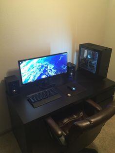 133 best tech desk ideas images gamer room home office pc setup rh pinterest com