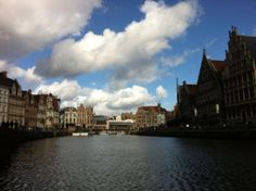 The Belgian cities are connected by artificial canals that empty into the sea