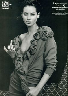 Peter Lindbergh Vogue UK 1991 Christy Turlington Comme des Garçons