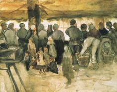 The Potato Market, 1882 by Vincent van Gogh Artist Van Gogh, Van Gogh Art, Art Van, Van Gogh Drawings, Van Gogh Paintings, Vincent Van Gogh, Rembrandt, Monet, Art Articles