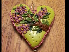 Lilac Polymer Pendant by PersimmonsStudio on Etsy, $24.00