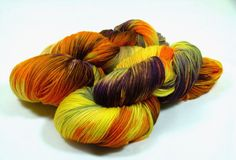 Hand Dyed Yarn  Sock Yarn  Fingering Yarn  by AMarieKnits on Etsy