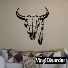 Skull Wall Decal - Vinyl Decal - Car Sticker - CD12006