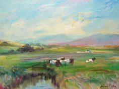 Irish Landscape Painting Ireland Well Listed American Connemara  #Impressionism Irish Landscape, Connemara, Impressionism, Landscape Paintings, Ireland, Creativity, American, Board, Impressionist