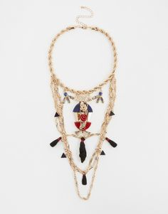 Image 1 of River Island Statement Tassel Necklace