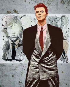 Tremendous David Bowie art by ? David Bowie Music, David Bowie Tribute, David Bowie Art, Glam Rock, David Bowie Wallpaper, David Bowie Pictures, Bowie Starman, The Thin White Duke, Classic Suit