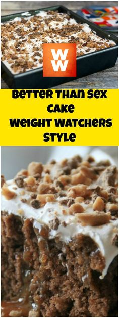 Better Than Sex Cake-Weight Watchers Style | weight watchers recipes