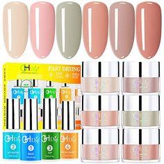Dip Powder Nail Kit Acrylic Nail Dip Powder Kit G643 (6 nude color) #amazon #amazonprime #primeday #affiliate Dip Manicure, Powder Manicure, Pedicure, Nail Effects, Strong Nails, Nail Drill, Dipped Nails, Young Nails, Color Powder
