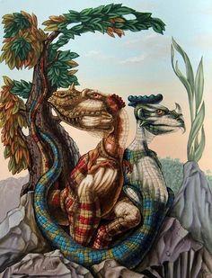 """""""The Lost World"""" by Sir Arthur Conan Doyle (Pittura), cm da Victor Molev """"The Lost World"""" by Sir Arthur Conan Doyle. Optical Illusion Paintings, Optical Illusions Pictures, Illusion Pictures, Cool Illusions, Art Optical, Street Art, Hidden Images, The Lost World, Sir Arthur"""