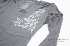 More with the Silhouette: Freezer Paper Stenciling and Heat Transfer TEES | Make It and Love It