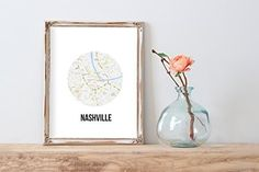 Nashville Map Modern Home Print