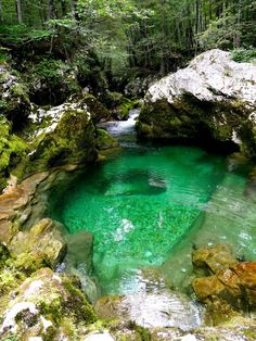 The beautiful clear water of Mostnica Gorge | The Ultimate guide to Bohinj, Slovenia | Laugh Travel Eat