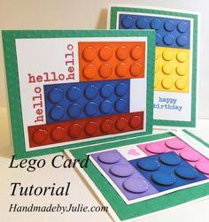 Lego Card Tutorial   HandmadebyJulie.com