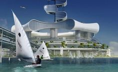 The futuristic Grand Cancun Eco tourism resort designed by Prof. Richard Moreta Castillo, could be the world's first luxury Eco resort. A As Architecture, Futuristic Architecture, Sustainable Architecture, Sustainable Design, Energy Pictures, Energy Crisis, Ocean Cleanup, Water From Air, Eco City