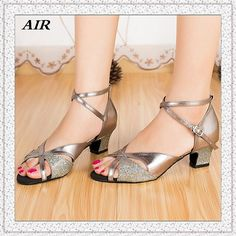 Buy Latin Dance Shoes Women Salsa Glitter Ballroom Dancing Ladies Gray Customized Hand Make Soft Sole - Mark's lovely shop store at AliExpress - ChinaPrices.net