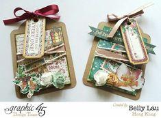 Mini Christmas Tag - A Christmas Carol - Belly Lau - Tutorial - Graphic 45 - 3