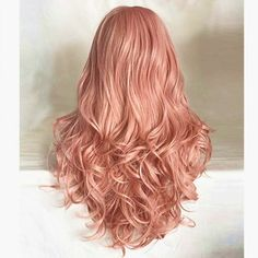 51 Most Beautiful Strawberry Blonde Hair Color Ideas Blond Rose, Strawberry Blonde Hair Color, Dark Blonde Hair, Ombre Hair Color, Big Curly Hair, Curly Hair Styles, Natural Hair Styles, Long Curly, Wavy Hair
