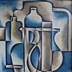More pieces by one of my favorite artists, José Pedro Costigliolo. If you missed my first post on him click here .   untitled, 1948  Estruct... Painters, Still Life, Artists, Drink, My Favorite Things, Abstract, American, Food, Cubist Paintings