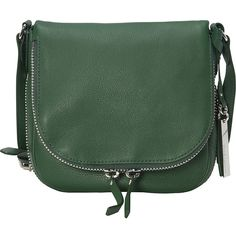 Vince Camuto Baily Crossbody found on Polyvore featuring bags, handbags, shoulder bags, designer handbags, green, crossbody purse, vince camuto purses, zipper handbag, vince camuto crossbody y green cross body purse