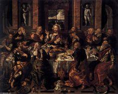 """La Última Cena (2)"" Alonso Vázquez - óleo sobre lienzo - 1588 - (Museo de Bellas Artes (Seville, Spain))"