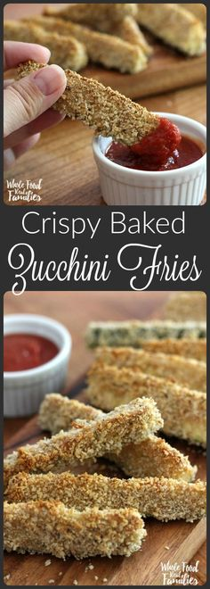Crispy Baked Zucchini Fries are deliciously crispy right out of the oven. Veganize by using aquafaba in place of the egg.