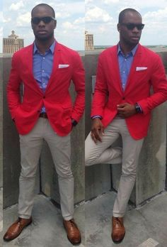 Red Blazer, Black Men, Suit Jacket, Breast, Suits, Sexy, Jackets, Fashion, Fashion Styles