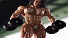Real strong women - Incredible female Bodybuilder with an iron body