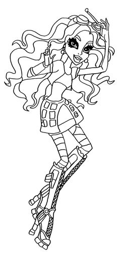 robecca steam monster high coloring page - Monster High Coloring Pages Cupid