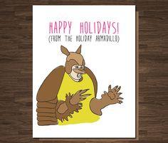 Funny Christmas Card Friends TV Show Holiday Armadillo Funny Christmas Hanukkah Card Feliz Hanukkah, Hanukkah Cards, Christmas Hanukkah, Hannukah, Christmas Card Packs, Diy Christmas Cards, Christmas Humor, Christmas Gifts, Christmas Ideas