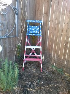 make an old ladder look new in the garden