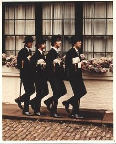 The Beatles substitute legion of the ministry of silly walks. Charming photo.