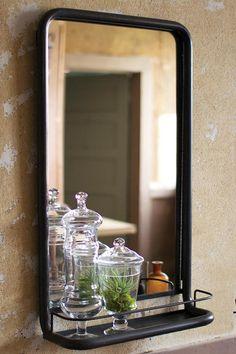 Home Decorators Collection Wesley Bathroom Mirror with Shelf Item #30744 | http://www.homedecorators.com/P/Wesley_Bathroom_Mirror_with_Shelf/220/