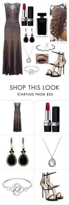 """""""Untitled #1075"""" by floridaflower11 ❤ liked on Polyvore featuring Adrianna Papell, Christian Dior, Givenchy, Ippolita, Giuseppe Zanotti, Jennifer Behr and Narciso Rodriguez"""