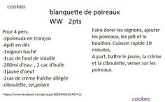 BLANQUETTE DE POIREAUX WW 2PP Courgettes Weight Watchers, Math Equations, Instant Pot, Table, Food, Drinks, Thermomix, Meal, Essen