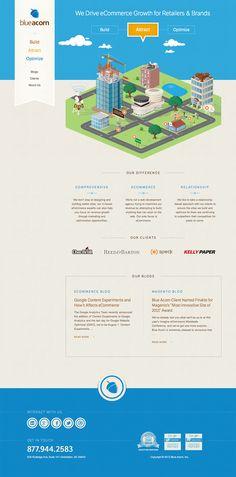 City Growth Animation / Blue Acorn / #illustration #background #clean #draw #pixelart