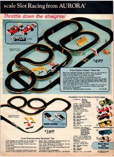 Slot Car Race Track, Slot Car Sets, Slot Car Tracks, Slot Car Racing Sets, Race Tracks, Vintage Toys 1960s, Retro Toys, Vintage Ads, 1950s Toys