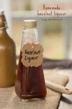 Homemade Hazelnut Liqueur - so easy and so delicious!