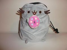 Pusheen the Cat with Donut Rock Climbing Chalk Bag made from a child's plush toy - Awesome Chalk Bags, Rock Climbing Chalk Bag - Rock Climbing Chalk Bag, Rock Climbing Chalk Bag - climbing chalk bag, [product _type] - chalk bag, Awesome Chalk Bags - Awesome Chalk Bags