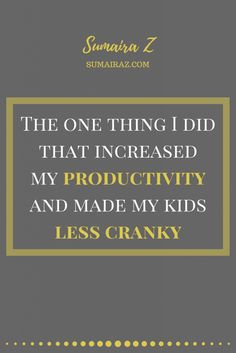 A few years ago, I did one thing that increased my productivity and made my kids less cranky and get along with each other more. This one thing took me just a few minutes to do and was FREE, yet the payoff was immense. Curious to know what this one thing is? Keep reading to … Read more...