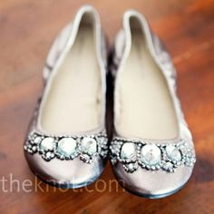 Silver wedding shoe's