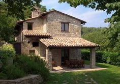 Historic Villa Rosaspina:veranda,dining table,stone barbecue,old wood-fired oven Old Stone Houses, Italian Home, Village Houses, Houses Houses, Mediterranean Homes, Architecture, My Dream Home, Exterior Design, Future House