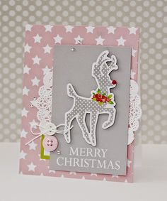 Soft, Beautiful Christmas Card - Chickaniddy Crafts Erin Taylor