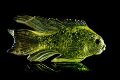 A Polychrome Tourmaline Fish Carving, Michael Peuster